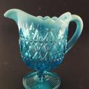 Davidson Pearline Pressed Glass Cream Jug