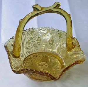 Greener Pressed Glass Basket
